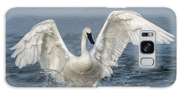 Trumpeter Swan Splash Galaxy Case