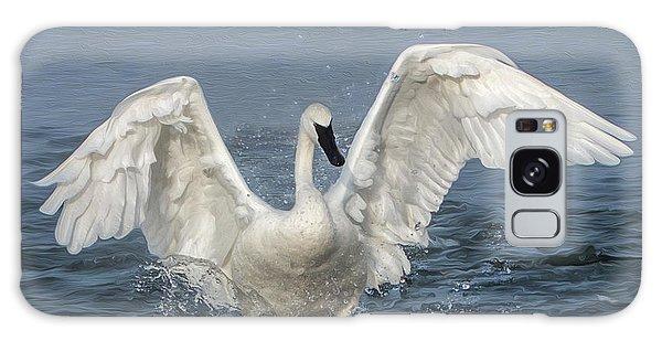 Trumpeter Swan Splash Galaxy Case