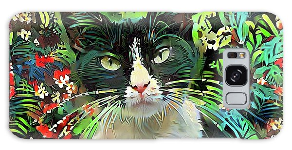 Tucker The Tuxedo Cat Galaxy Case