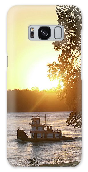 Tugboat On Mississippi River Galaxy Case
