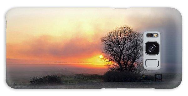 Tule Fog Sunrise  Galaxy Case