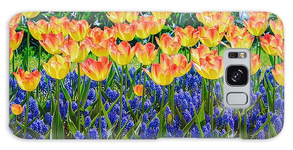Bluebell Galaxy Case - Tulips And Muscari Flowers by Sergej Razvodovskij