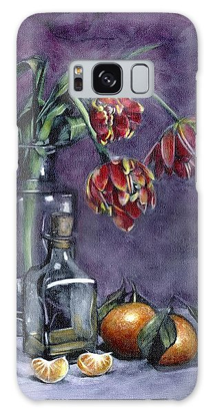 Tulips And Oranges Galaxy Case