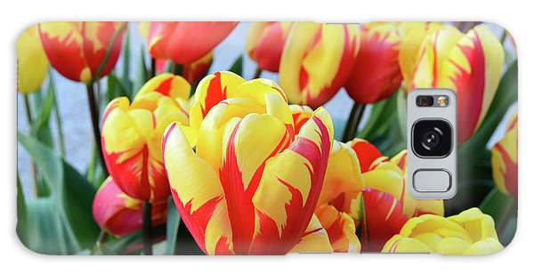 Tulips And Tiger Stripes Galaxy Case