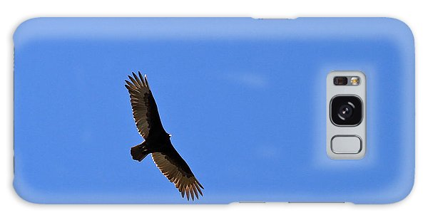 Turkey Vulture Soaring Galaxy Case