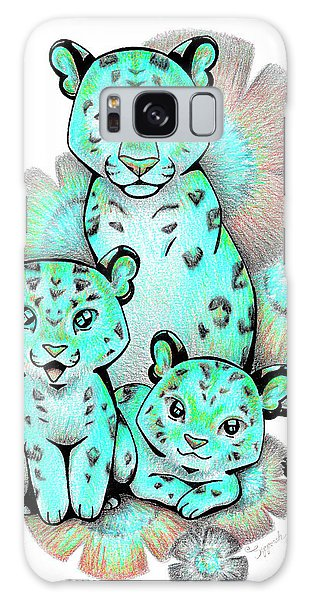 Turquoise Leopards Galaxy Case