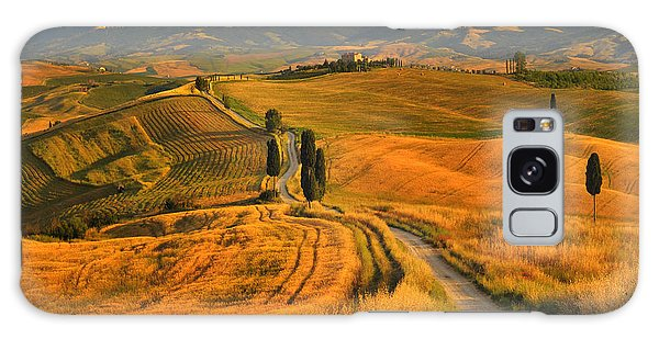 Farmland Galaxy Case - Tuscany, Cypress Road by Jaroslaw Pawlak