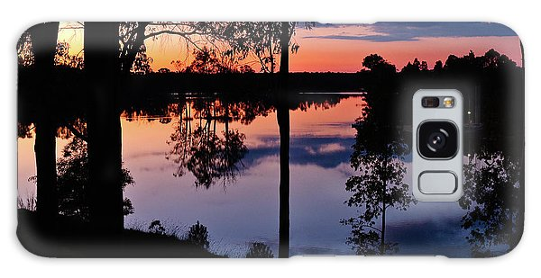 Twilight By The Lake Galaxy Case