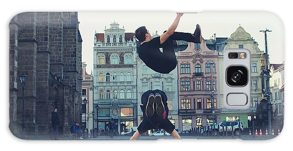 Two People Galaxy Case - Two Breakdancers Dancing Breakdance On by Davidtb