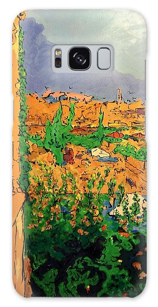 Galaxy Case featuring the painting Spritz On The Terrace by Ray Khalife