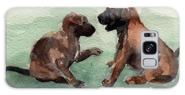 Two Malinois Puppies Galaxy Case