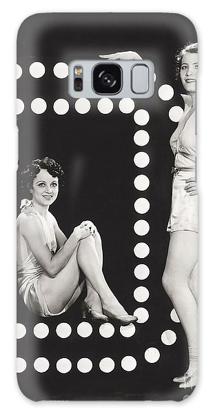 Two People Galaxy Case - Two Models Posing By Large Letter O by Everett Collection