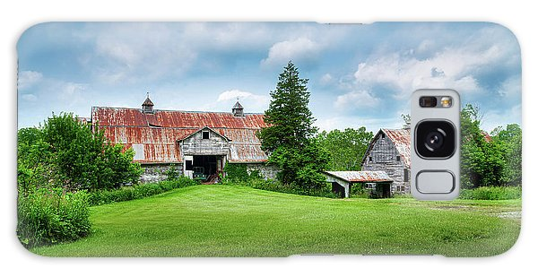 Outdoors Galaxy Case - Two Old Barns by Tom Mc Nemar