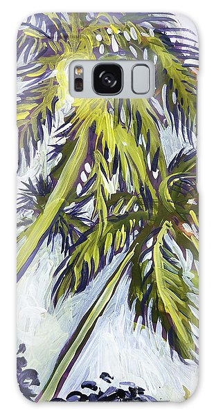Two Palm Sketch Galaxy Case