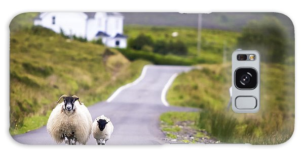 Scottish Galaxy Case - Two Sheep Walking On Street In Scotland by Otmarw