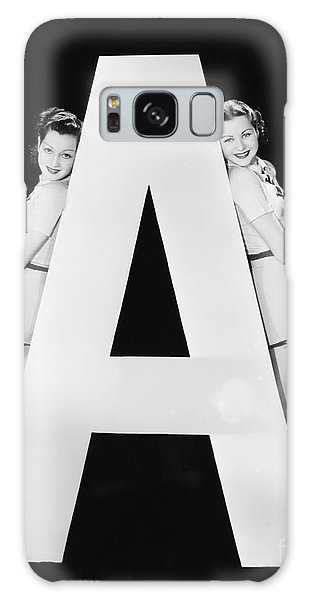 Two People Galaxy Case - Two Women With Huge Letter A by Everett Collection