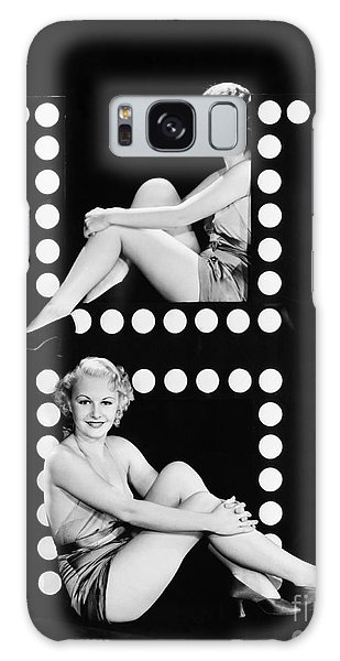 Two People Galaxy Case - Two Young Women Posing With The Letter H by Everett Collection