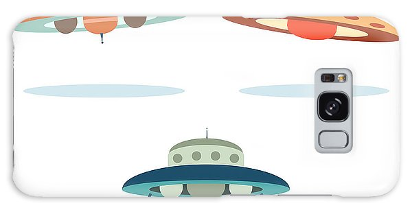 Outer Space Galaxy Case - Ufo Alien Space Ships by Oculo