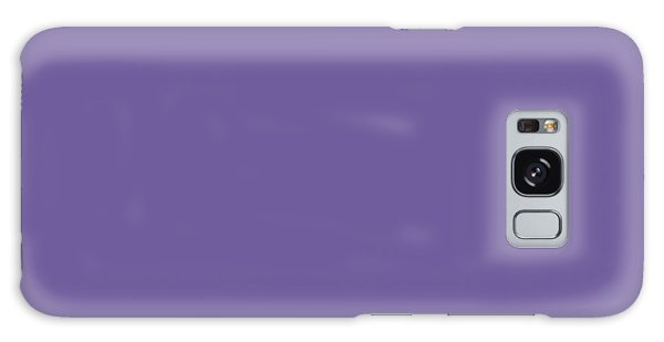 Galaxy Case featuring the mixed media Ultra  Violet - Pantone Color Of The Year 2018 by Carol Cavalaris