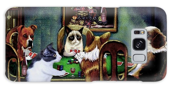 Calico Cat Galaxy Case - Under The Table by Ron Chambers