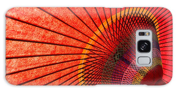 Parasol Galaxy Case - Underside Of Red Japanese Parasol by Sam Chadwick