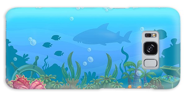 Horizontal Galaxy Case - Underwater Seamless Landscape by Lilu330