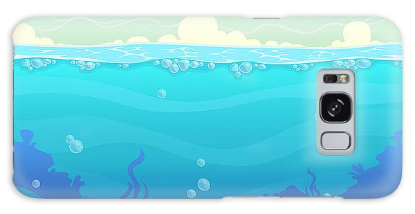 Horizontal Galaxy Case - Underwater Seamless Landscape, Sea by Lilu330