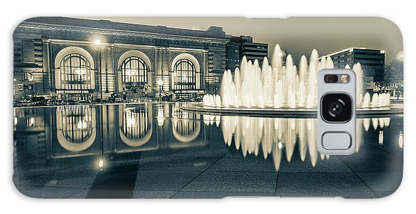 Union Station Bloch Fountain In Sepia - Kansas City Architecture Galaxy Case