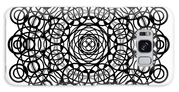 Pen And Ink Drawing Galaxy Case - Untitled  Mandala by Manuel Bennett