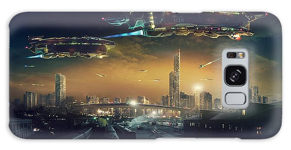 Spaceship Galaxy Case - Urban Landscape Of Post Apocalyptic by Rustic