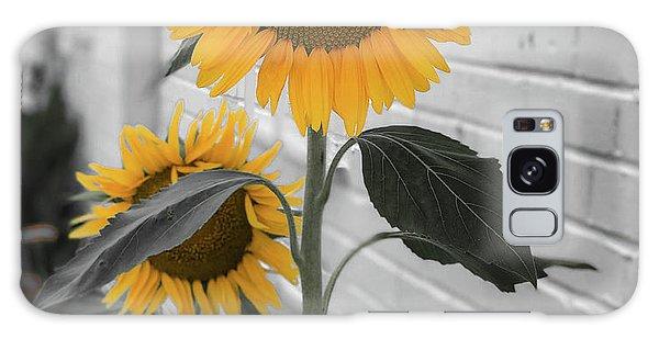Urban Sunflower - Black And White Galaxy Case
