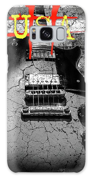 Galaxy Case featuring the digital art Usa Flag Guitar Relic by Guitar Wacky