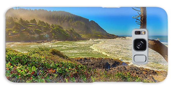 Otter Rock Galaxy Case - Usa, Oregon, Devil's Punchbowl by Jaynes Gallery