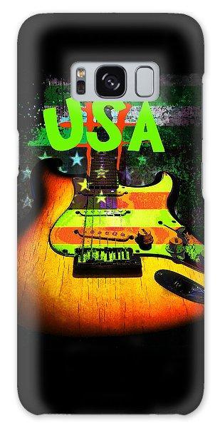 Usa Strat Guitar Music Green Theme Galaxy Case