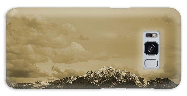 Utah Mountain In Sepia Galaxy Case
