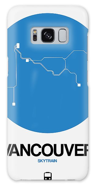 Vancouver City Galaxy Case - Vancouver Blue Subway Map by Naxart Studio