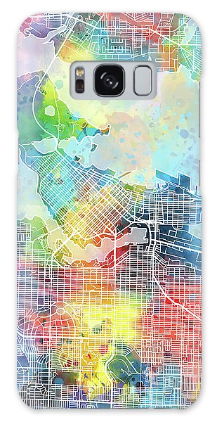 Vancouver City Galaxy Case - Vancouver Map Watercolor by Bekim M