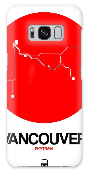 Vancouver City Galaxy Case - Vancouver Red Subway Map by Naxart Studio