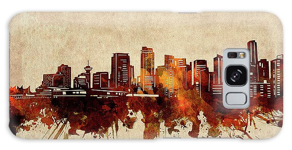 Vancouver City Galaxy Case - Vancouver Skyline Sepia by Bekim M