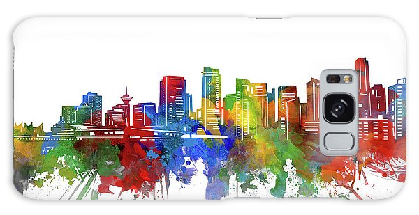 Vancouver City Galaxy Case - Vancouver Skyline Watercolor 2 by Bekim M