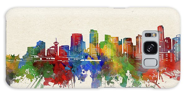 Vancouver City Galaxy Case - Vancouver Skyline Watercolor by Bekim M