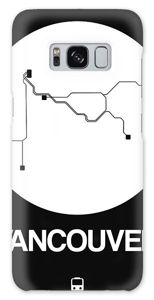 Vancouver City Galaxy Case - Vancouver White Subway Map by Naxart Studio