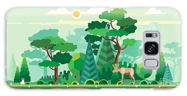 Horizontal Galaxy Case - Vector Flat Illustrations - Eco Style by Bukhavets Mikhail