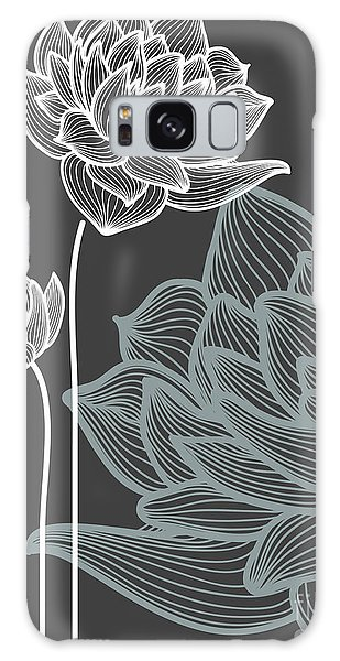 Event Galaxy Case - Vector Flowers Over Black Background by Danussa