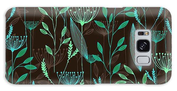 Botanical Garden Galaxy Case - Vector Grass Seamless Pattern by Oxanaart