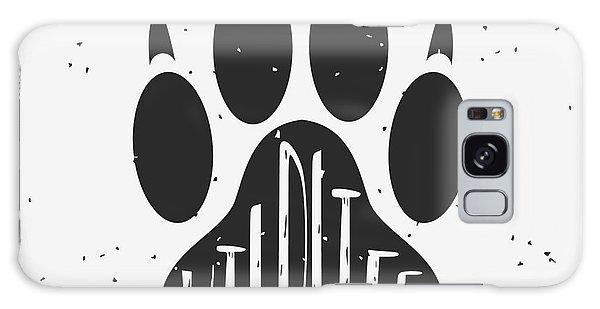 Claws Galaxy Case - Vector Hand Drawn Typographic Poster by Svesla Tasla