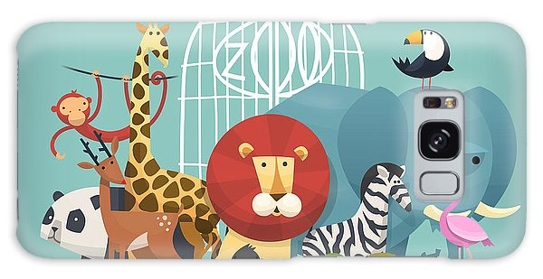 Turtle Galaxy Case - Vector Illustration Card With Animals by Yauhen Paleski