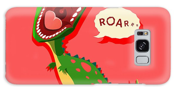 Claws Galaxy Case - Vector Illustration Of Dinosaur Is by Maxicam