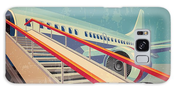 Airport Galaxy Case - Vector Illustration On The Theme Of by Andrii Stepaniuk