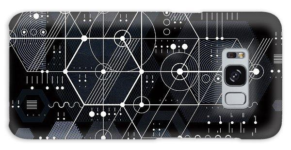 Scientific Illustration Galaxy Case - Vector Industrial And Engineering by Sylverarts Vectors